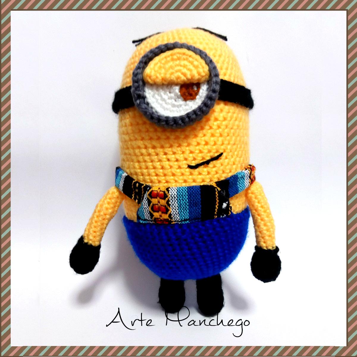 Minions Amigurumi Llavero : Minion de amigurumi arte manchego tu tienda online